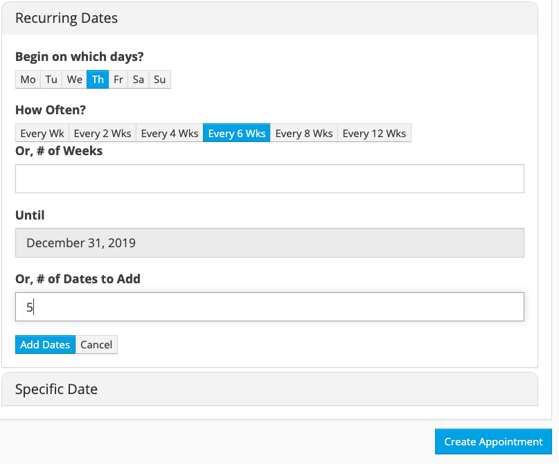 Easily add and confirm recurring appointments to help ensure your customers come back regularly.
