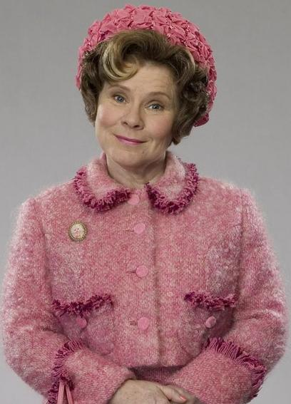 Most of us are more disturbed by dolores umbridge than Voldemort, because at least voldemort is honest about the fact he is trying to destroy you.