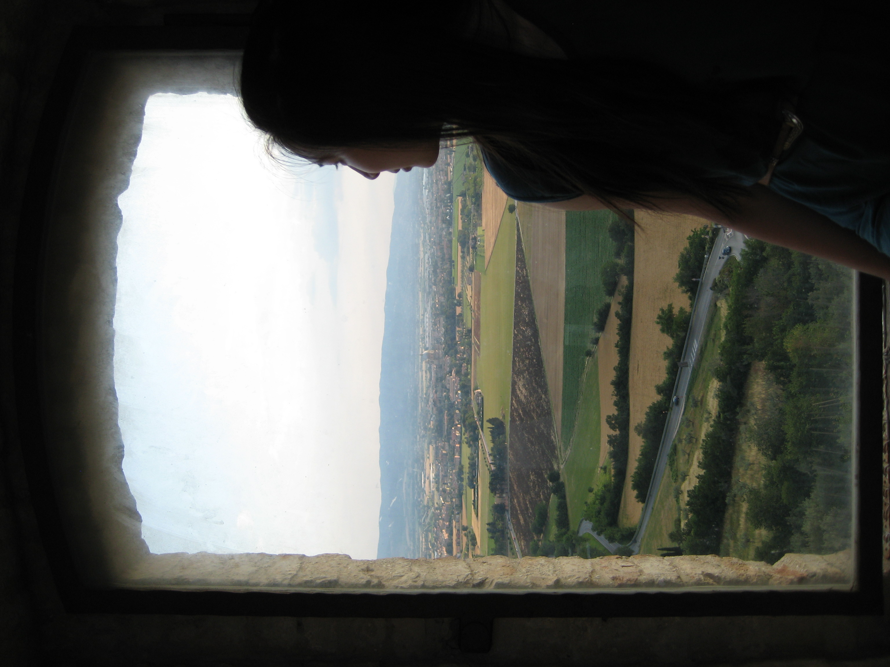 """""""Once a week, go somewhere where the sky meets the horizon and remind yourself that you are infinite."""" This is me in in the St. Francis Basilica in Assisi, Italy."""