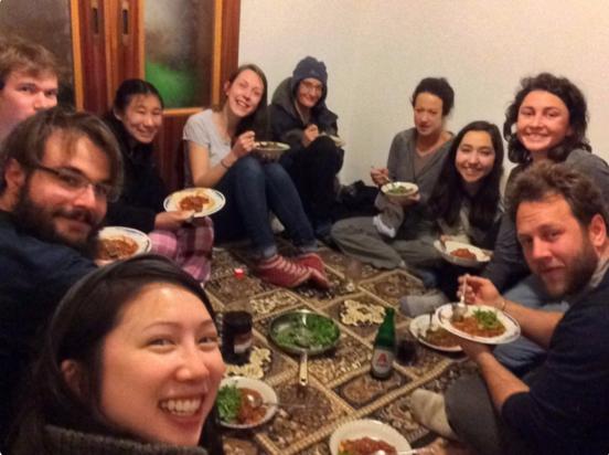 Global Family Dinner with International Volunteers