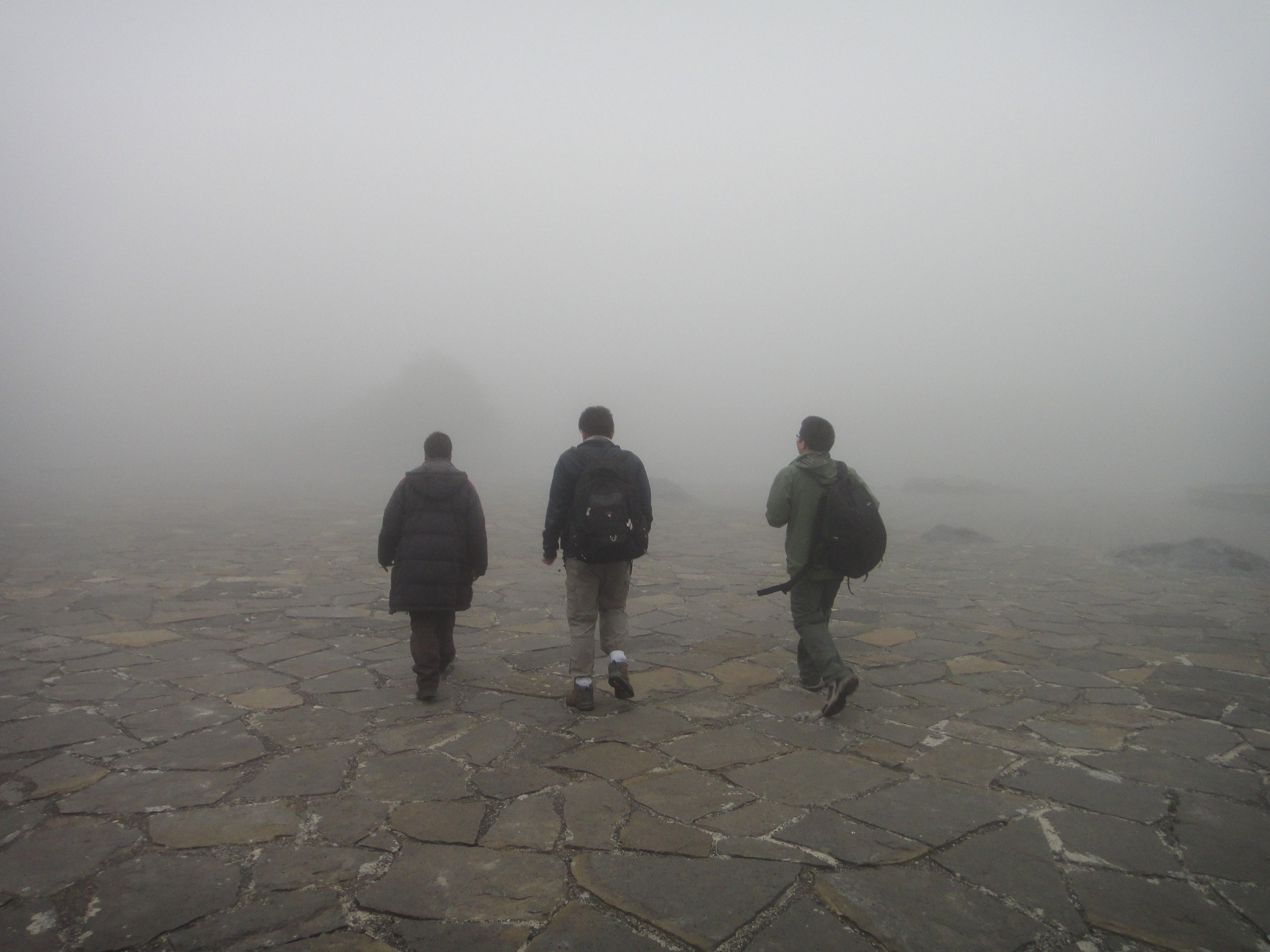 walking through the clouds on Mt. Jiaozi.