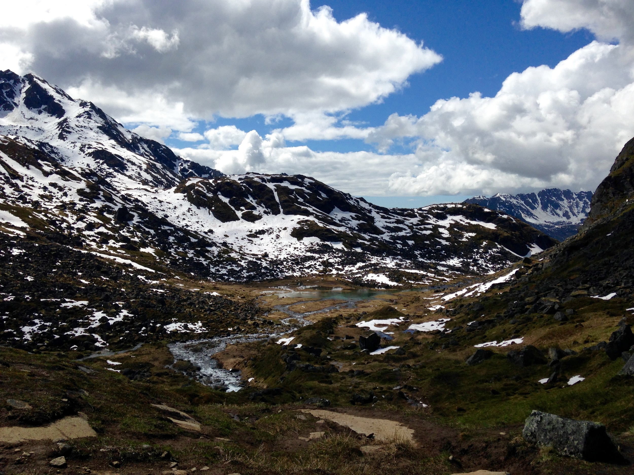 View from Reed lake near hatcher Pass. Looks like the eastern Sierra huh?