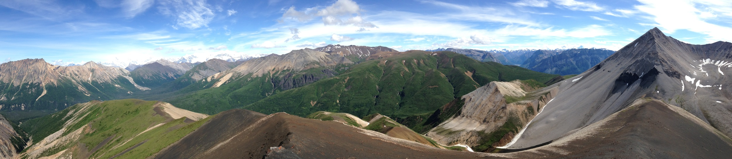 Maybe the best panorama I took while in Alaska. Wrangell St. Elias National Park near Nikolai Pass.