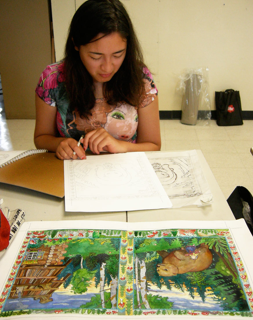 RISD Summer Studies Student in Children's Book I