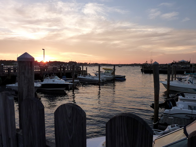 The harbor in Bristol, Rhode Island