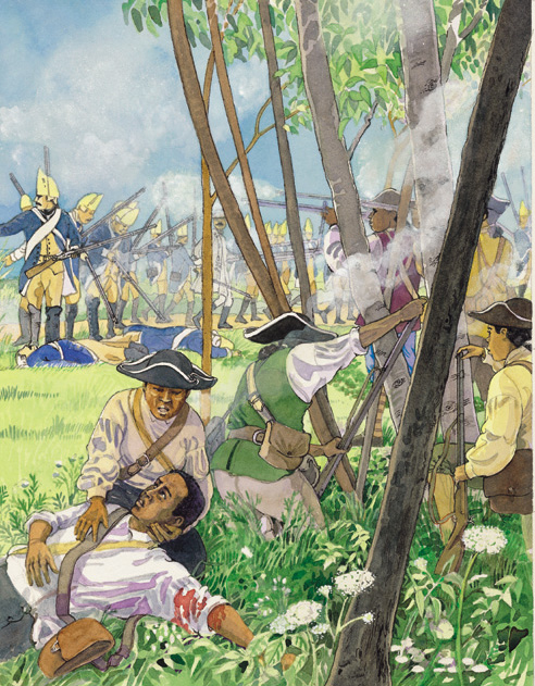 Battle of Rhode Island, Revolutionary War, © Cheryl Kirk Noll