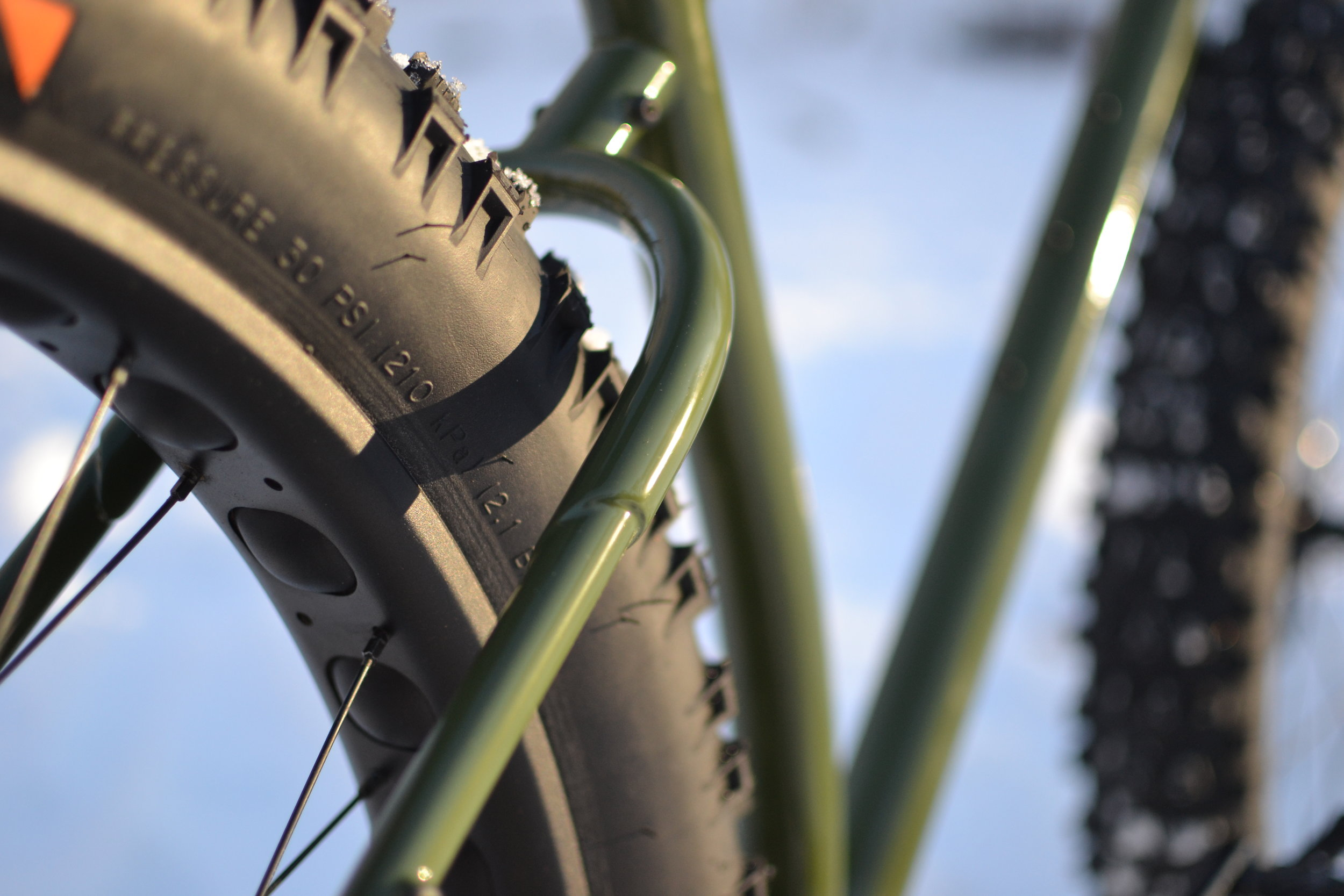 Custom steel fat bike handbuilt