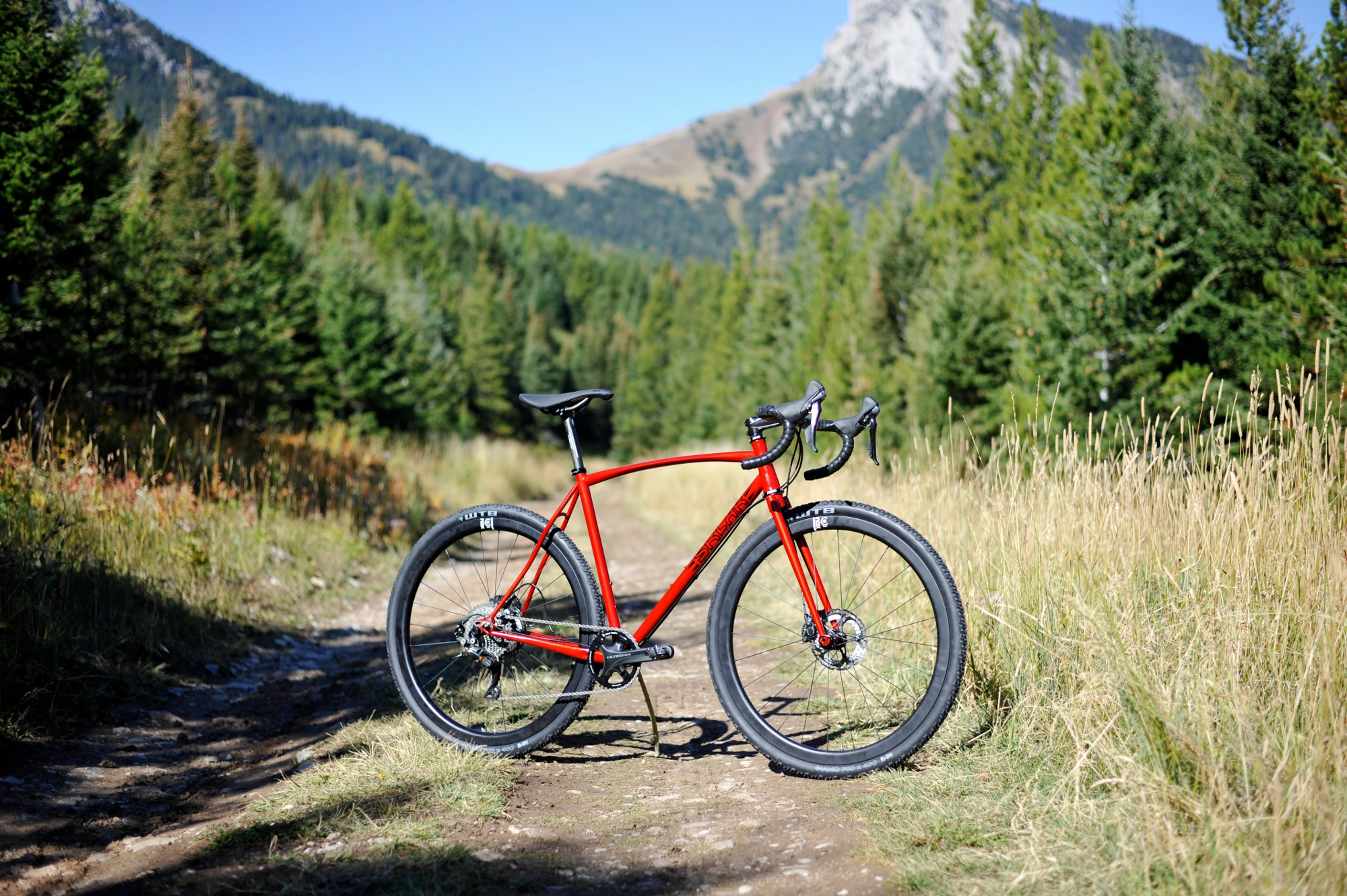Custom steel gravel bike
