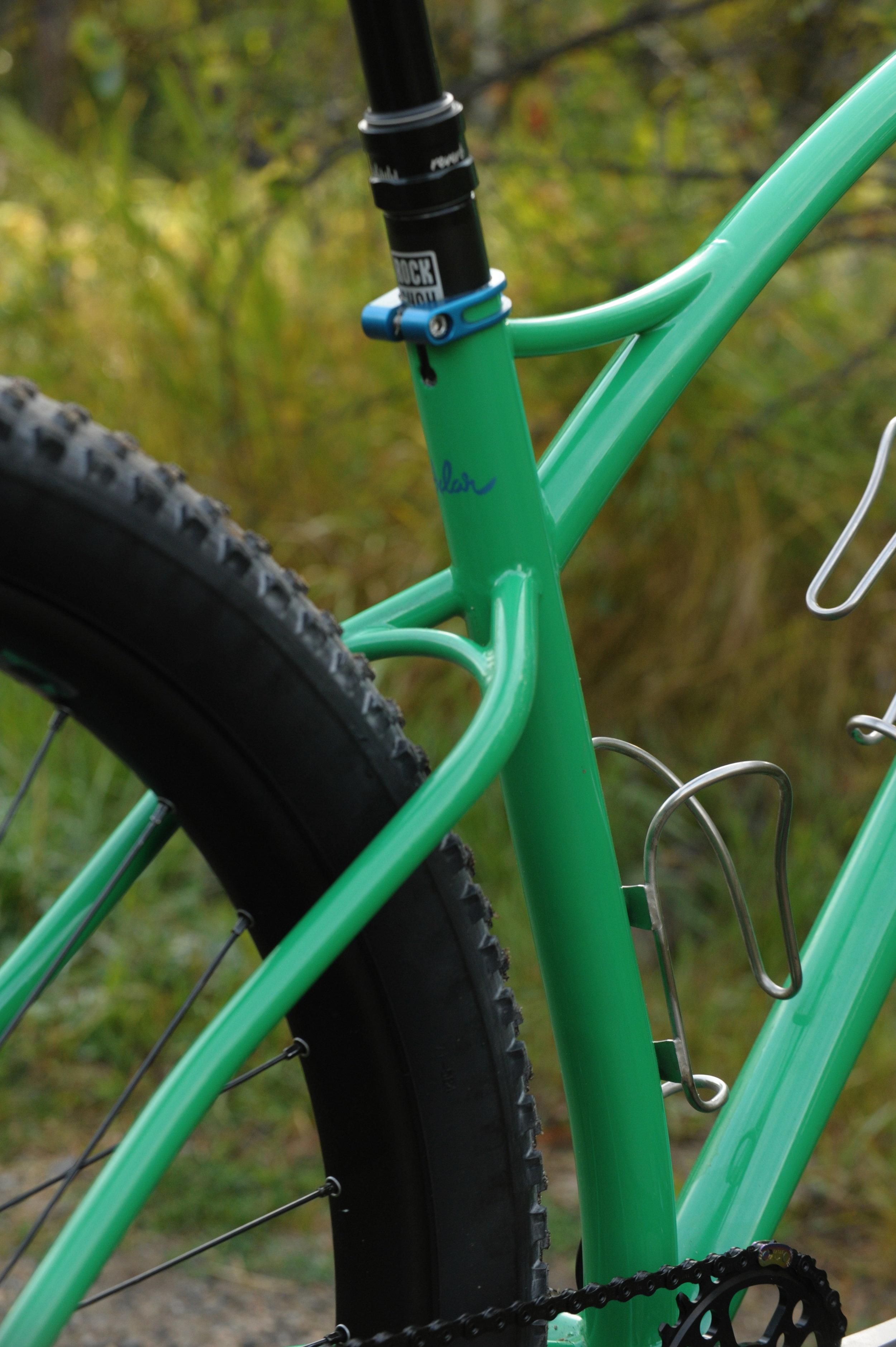 custom steel 275 plus mountain bike