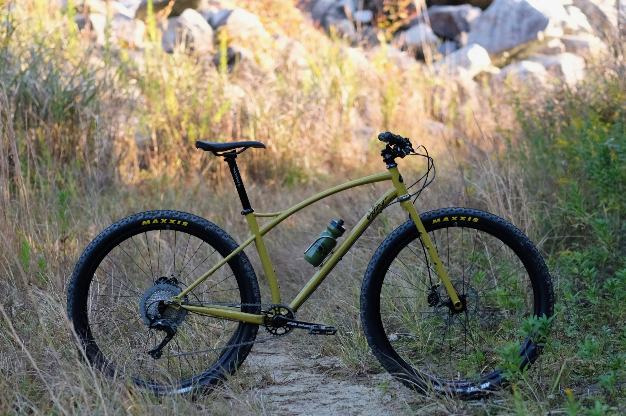 Sklar custom steel mountain bike bikepacking