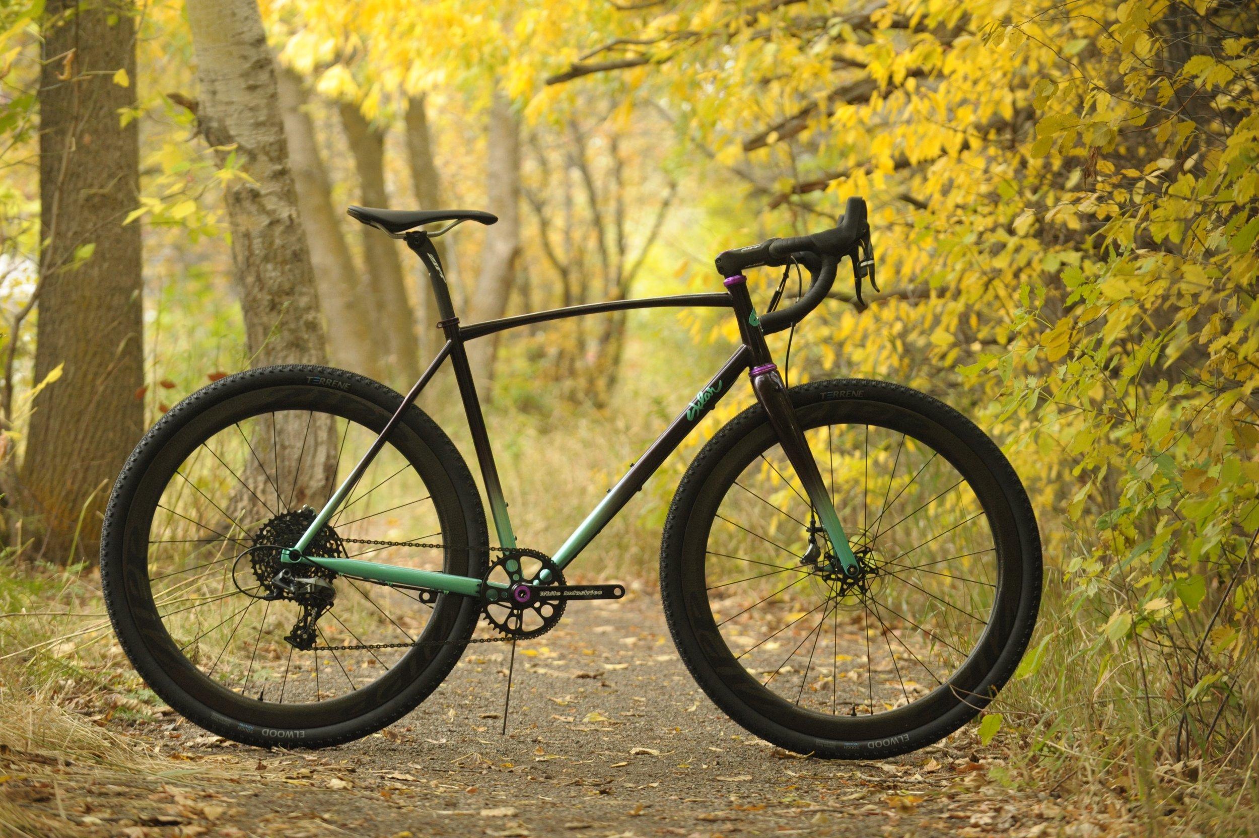 handbuilt steel cyclocross bike