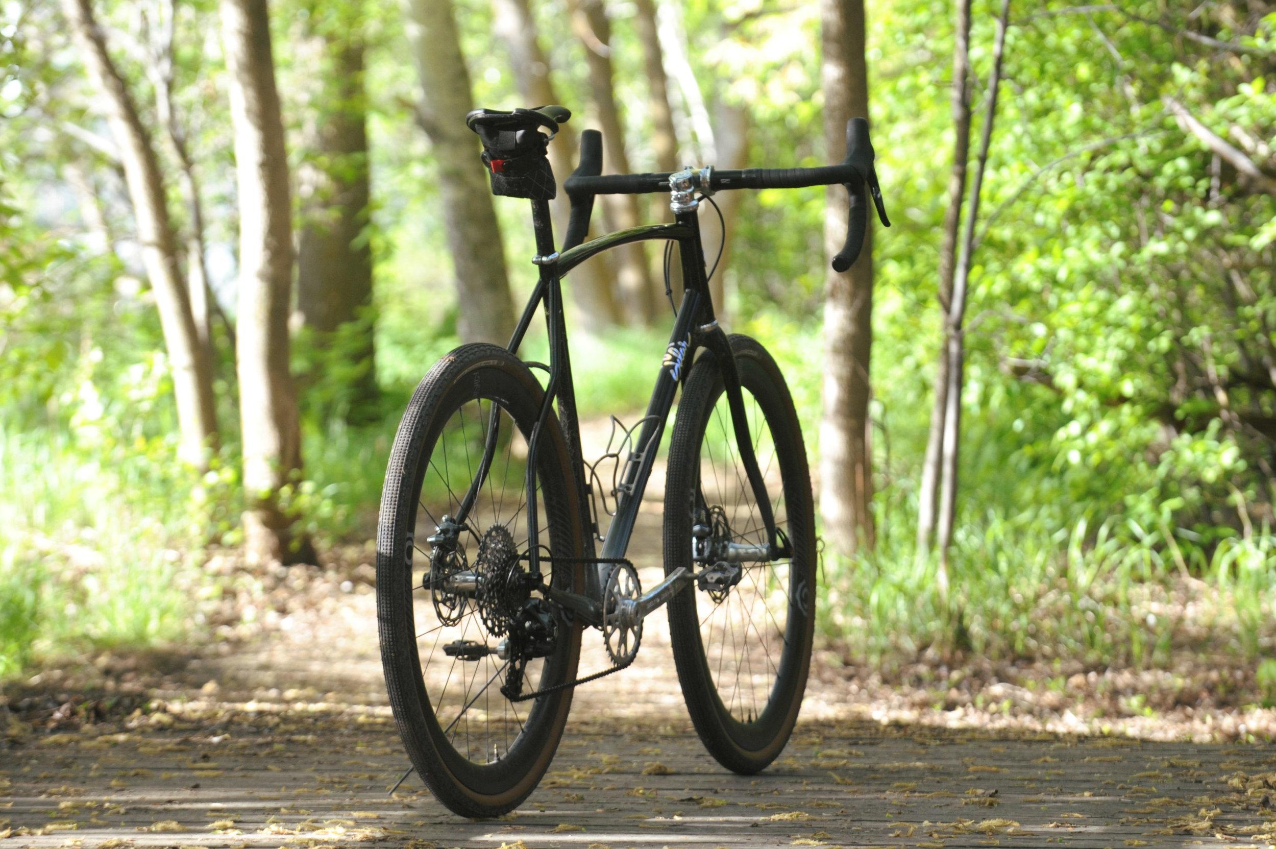 custom steel gravel grinder all road bike