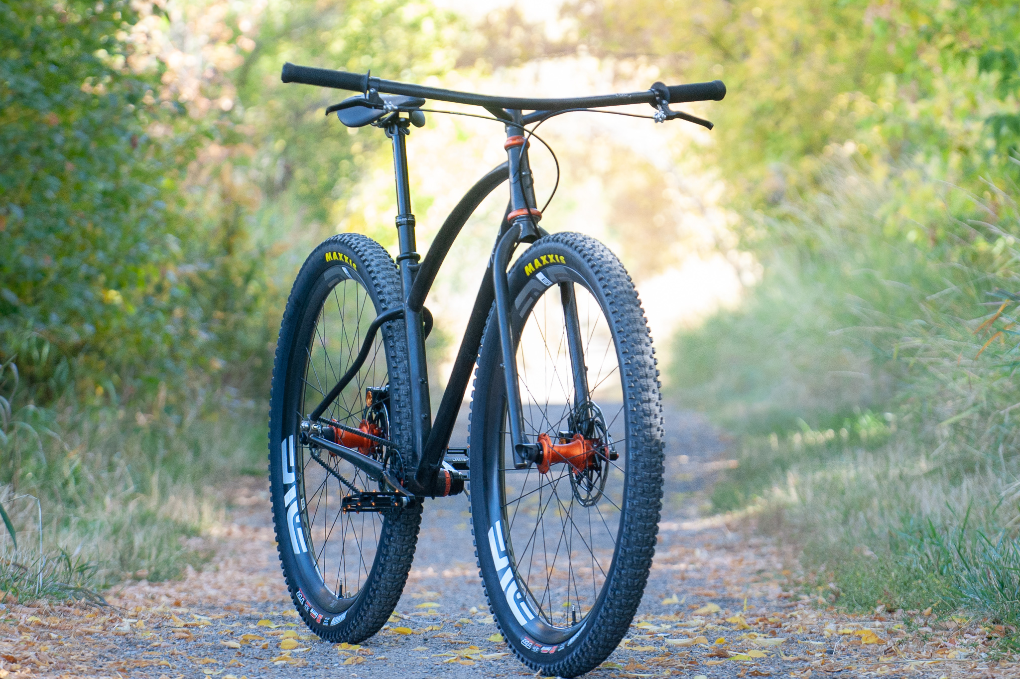 sklar klunker singlespeed mountain bike matte orange chris king