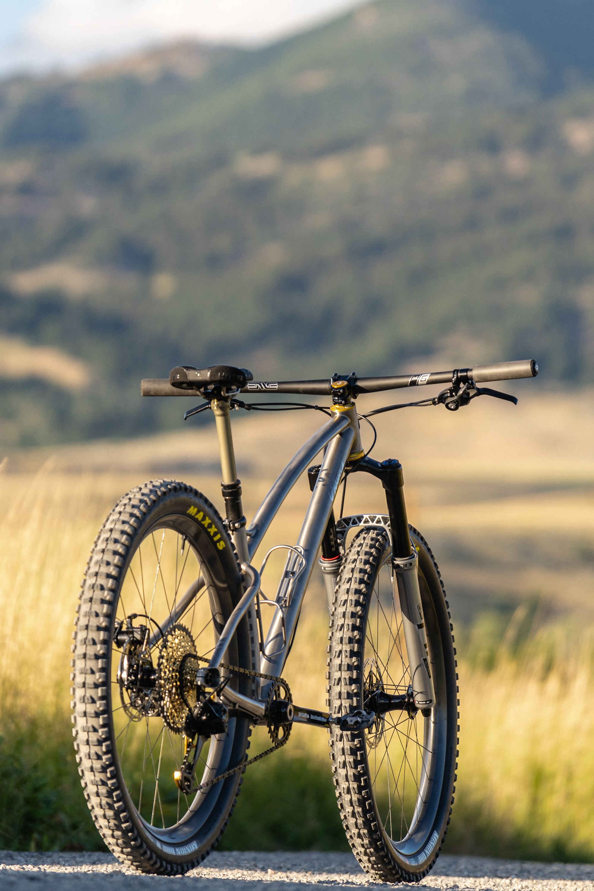 custom titanium plus mountain bike sklar