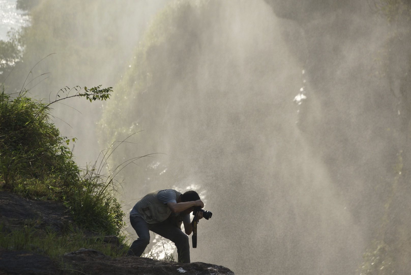 Photographer at Murchison Falls