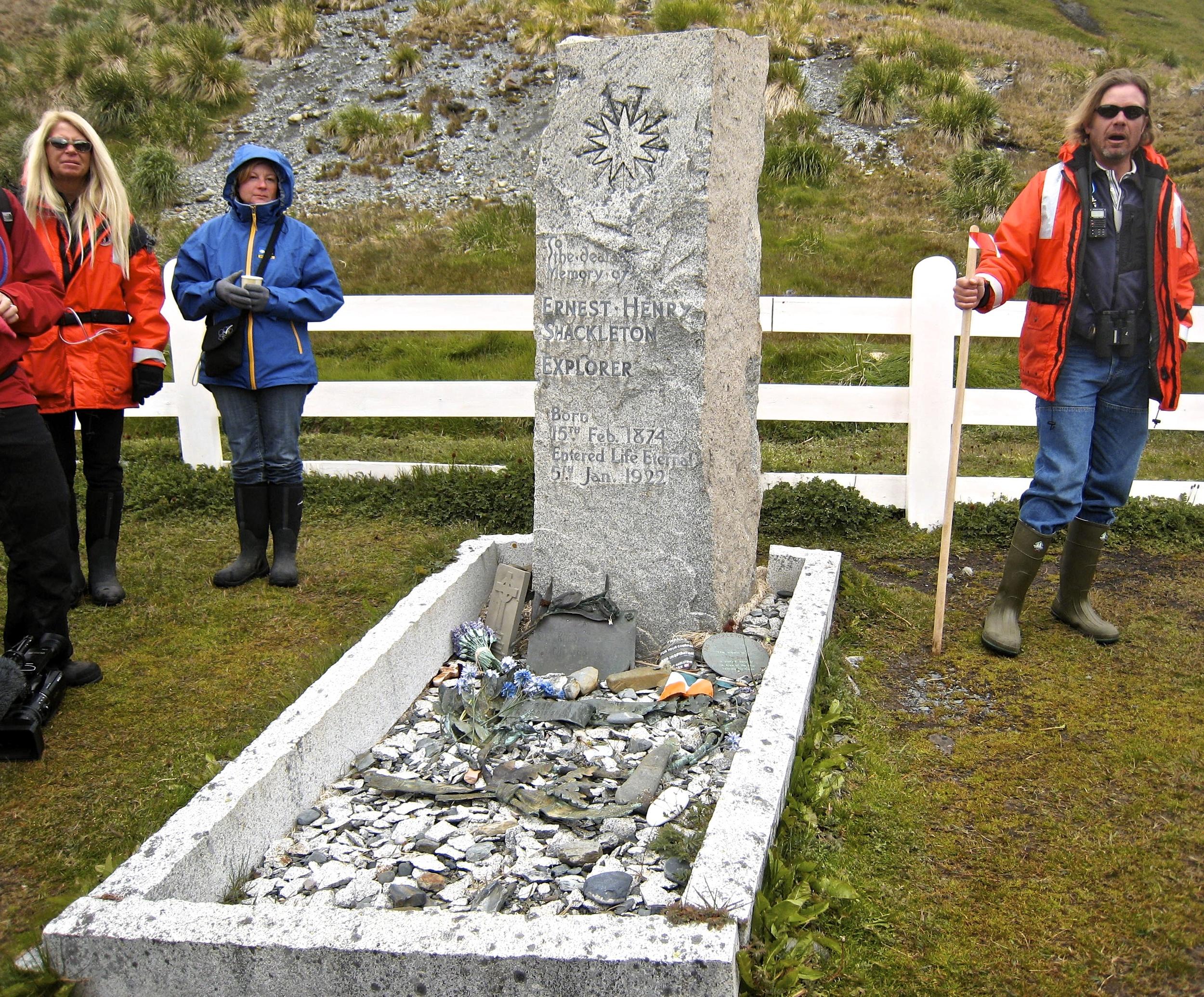 Memorializing Ernest Shackleton at His Grave Site