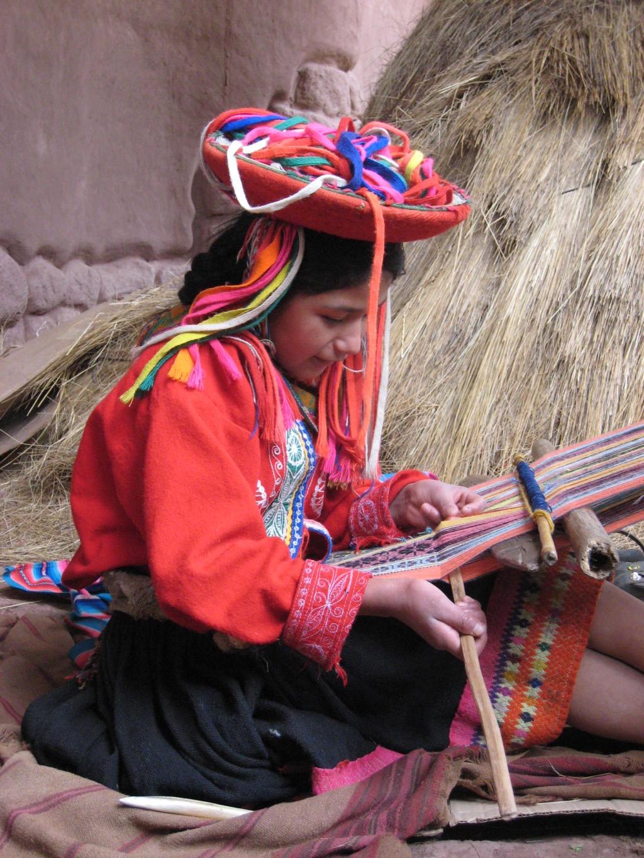 Traditional Backstrap Weaving.