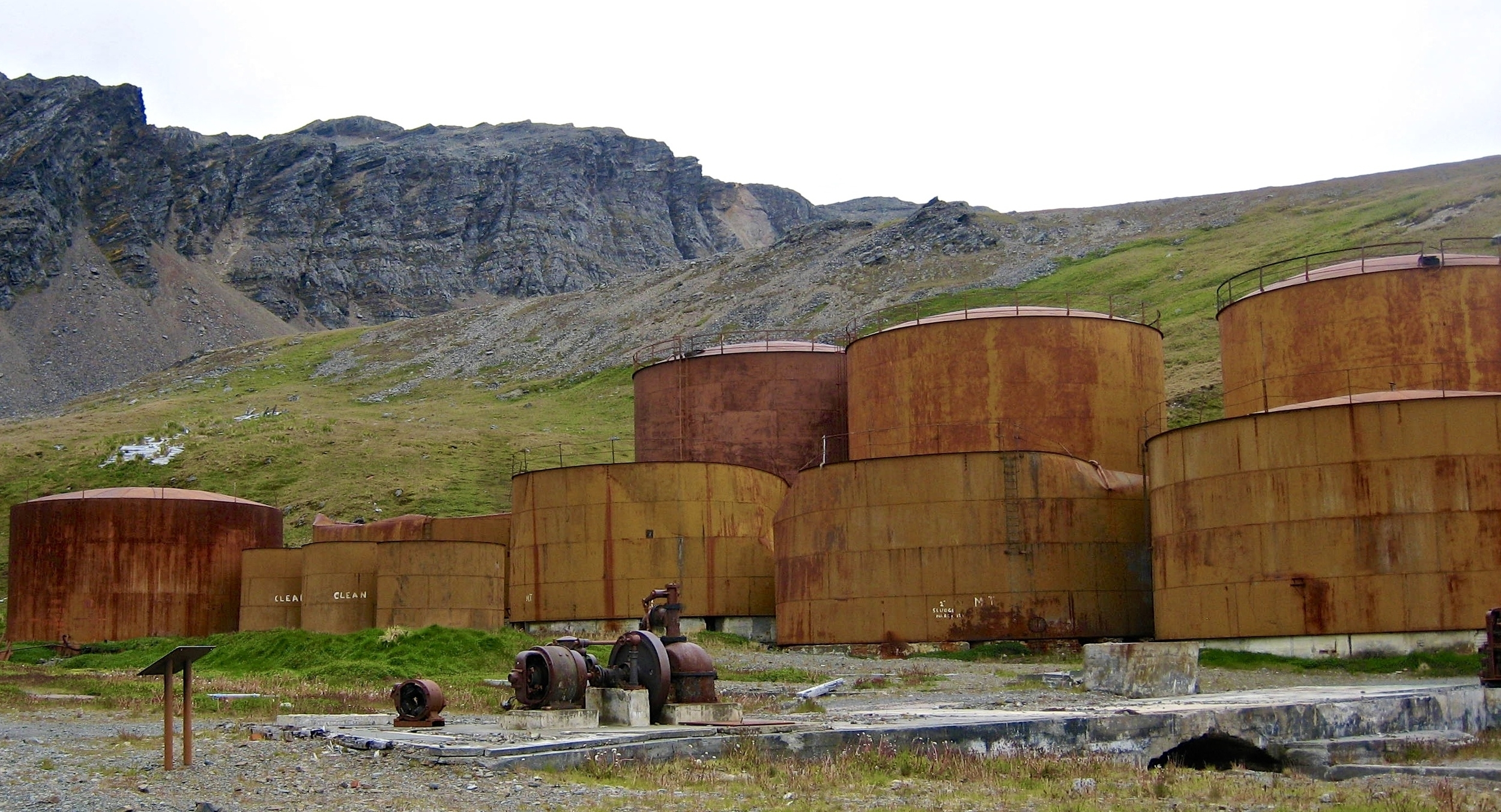 Huge Whale Oil Drums