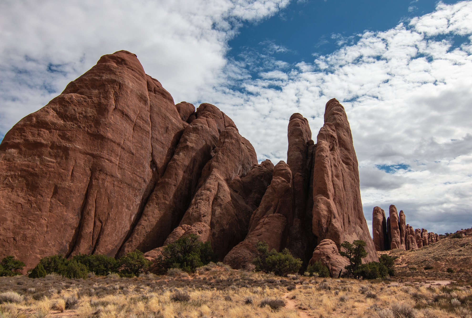 The Fins Lined Up-Arches National Park