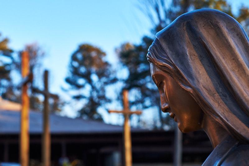 Mary Leading us to Christ at All Saint's Catholic Church in Dunwood, Georgia.