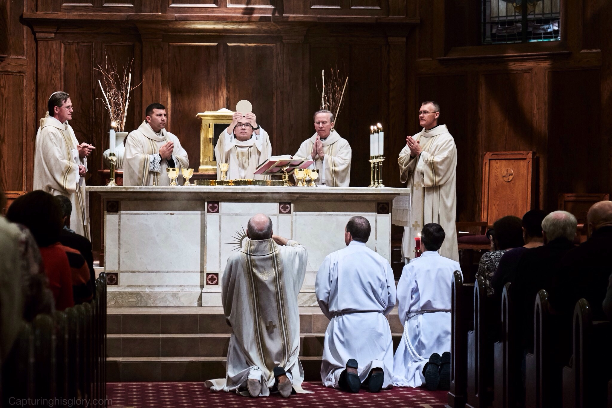 The commisioning of priests and institution of the Eucharist...two great gifts