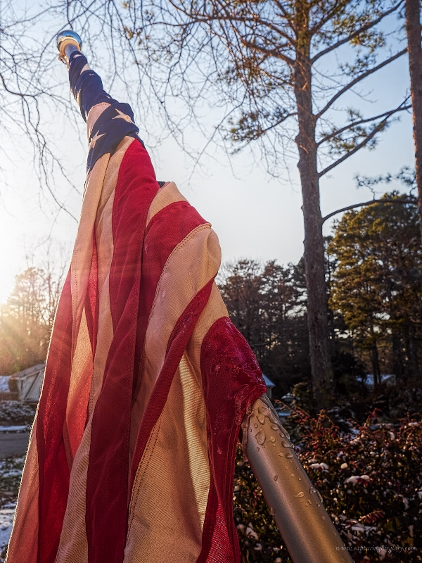 A cold day for Old Glory...but these colors don't run.