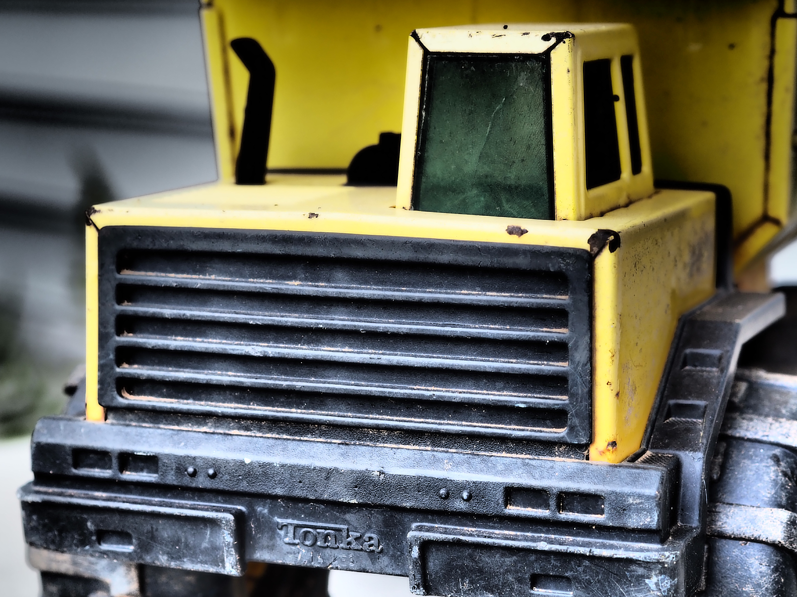 The boys TONKA Truck (survivor of four boys and others before them!) OMD-EM10 mkII with 45mm F1.8