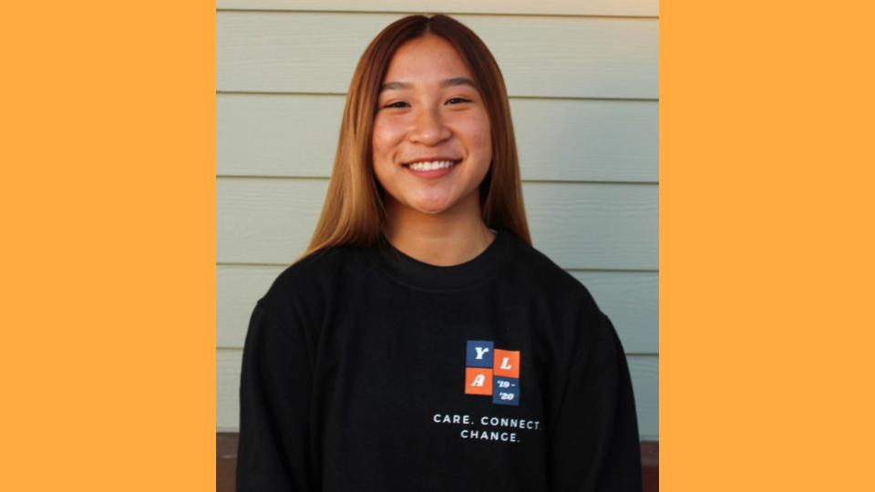 Vanessa Tsui, Youth Board Vice President - Hello Everyone! My name is Vanessa Tsui and I am a junior at Cypress High School. Before YLA, I was terrified to talk to people that I have never met before even though I was an extrovert. YLA has given me the skills to become comfortable when talking with people I don't know. A fun fact about me is that I am five feet tall!