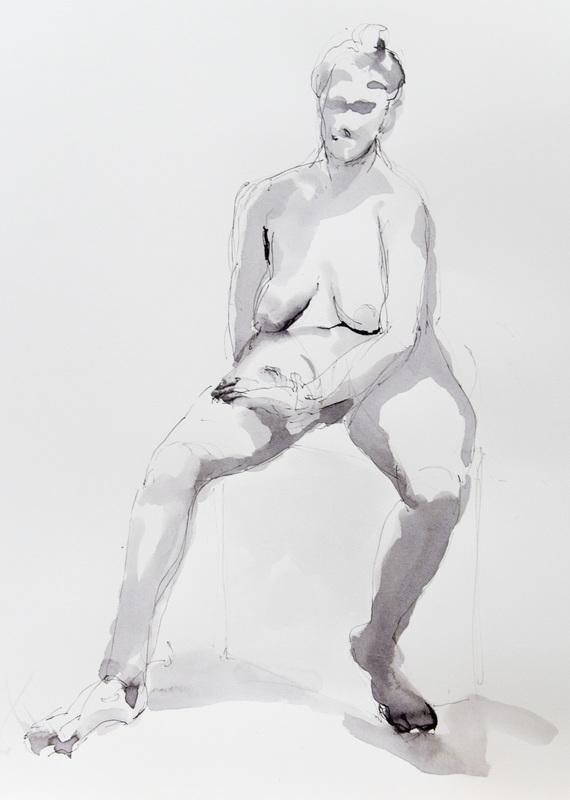 """""""Nude on a Stool I"""""""