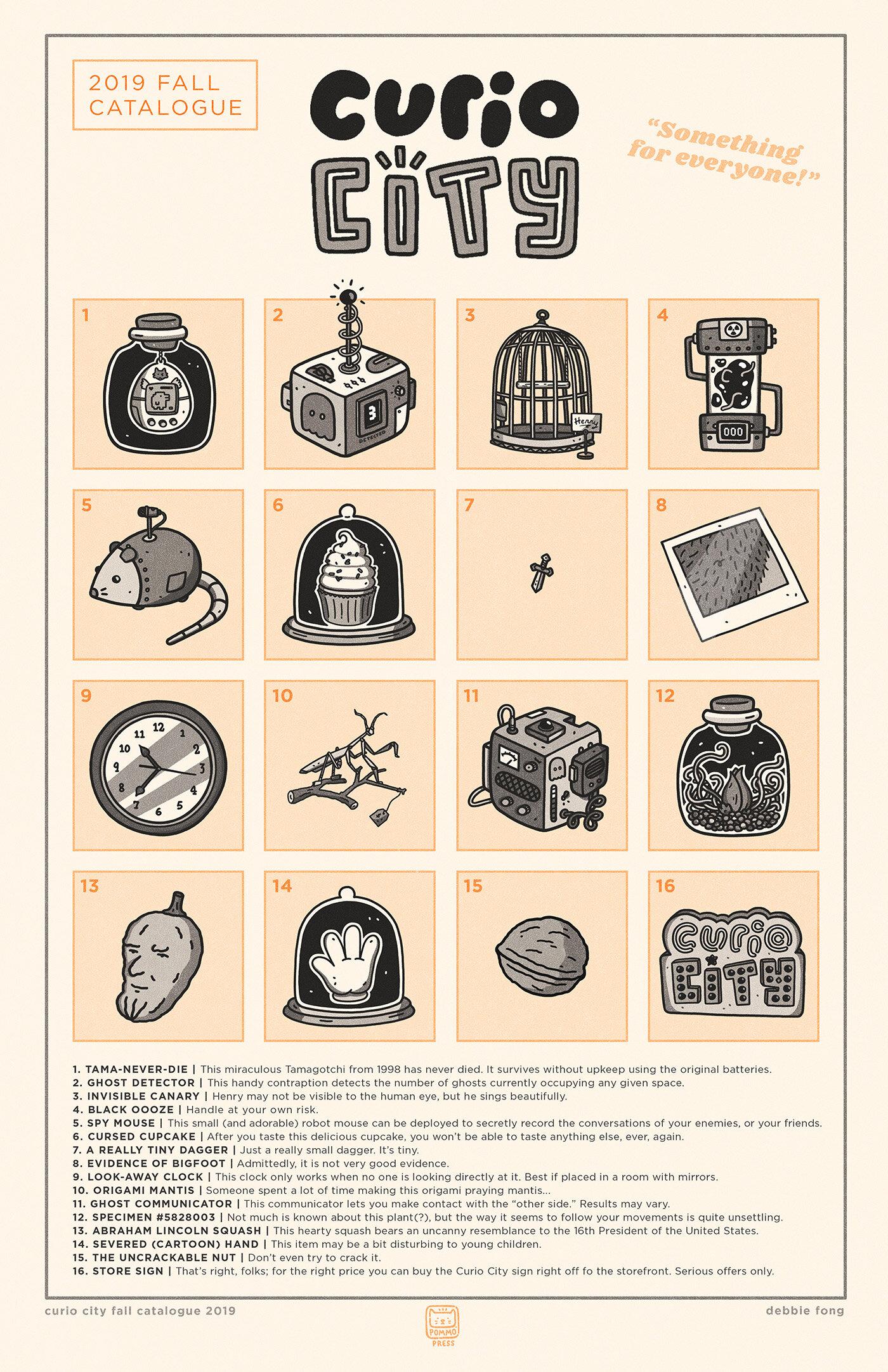 Curio City Fall Catalogue - Black, Orange