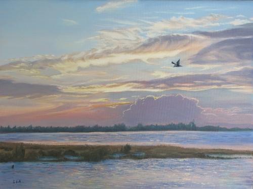 19519225-LeaNovak_Barnegat_Bay_at_Sunset_oil_12x16_$350[1].jpg
