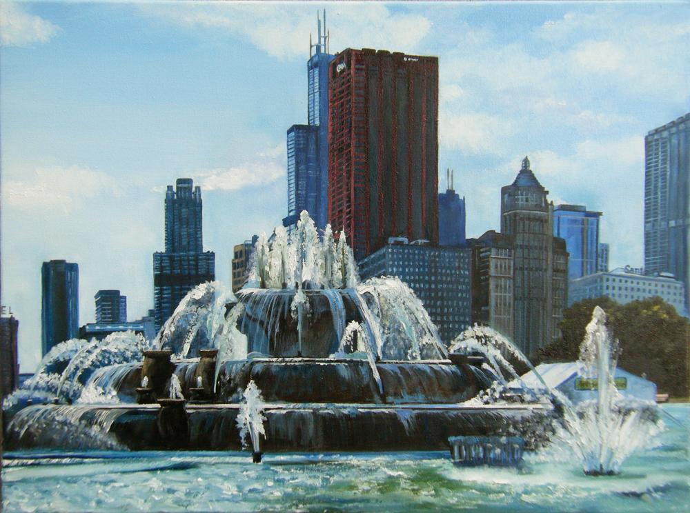 """Buckingham Fountain"" by Joy Appenzeller Bauer"