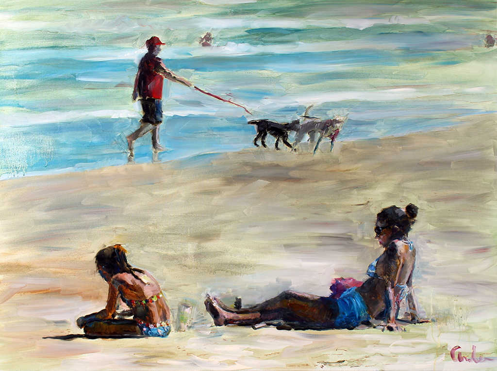 """Beach Scene 2"" by Robert Andes"
