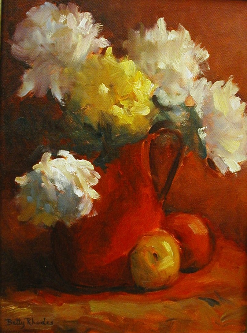"""""""Study in Red"""" by Betty Rhodes"""