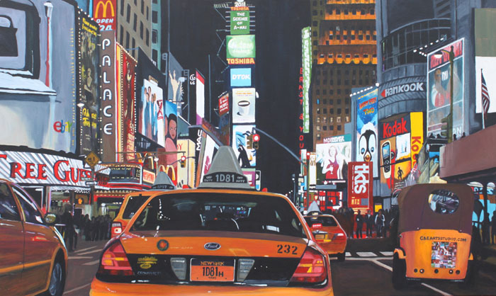 """""""Iconic Time Square at Night"""" by Clinton Helms"""