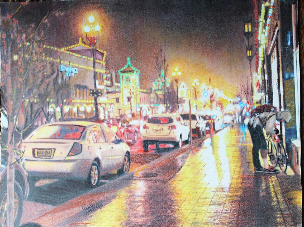 Evening Plaza K.C. by Chrlotte Hastings