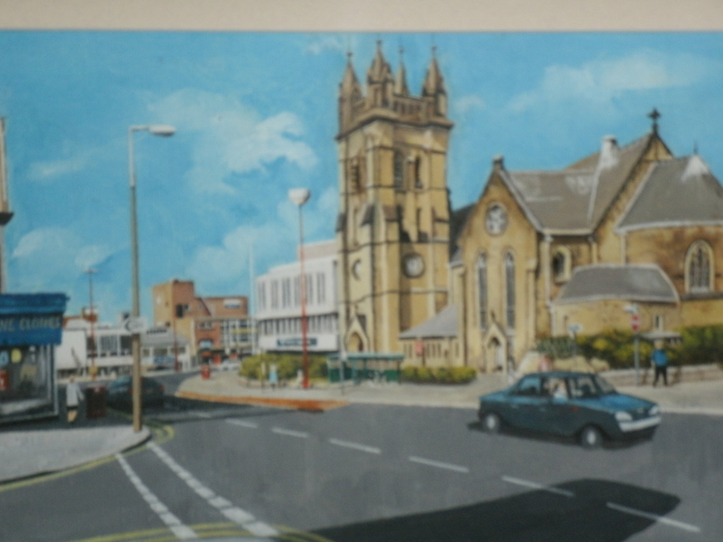 Blackpool Town center St John's Parish Church .JPG