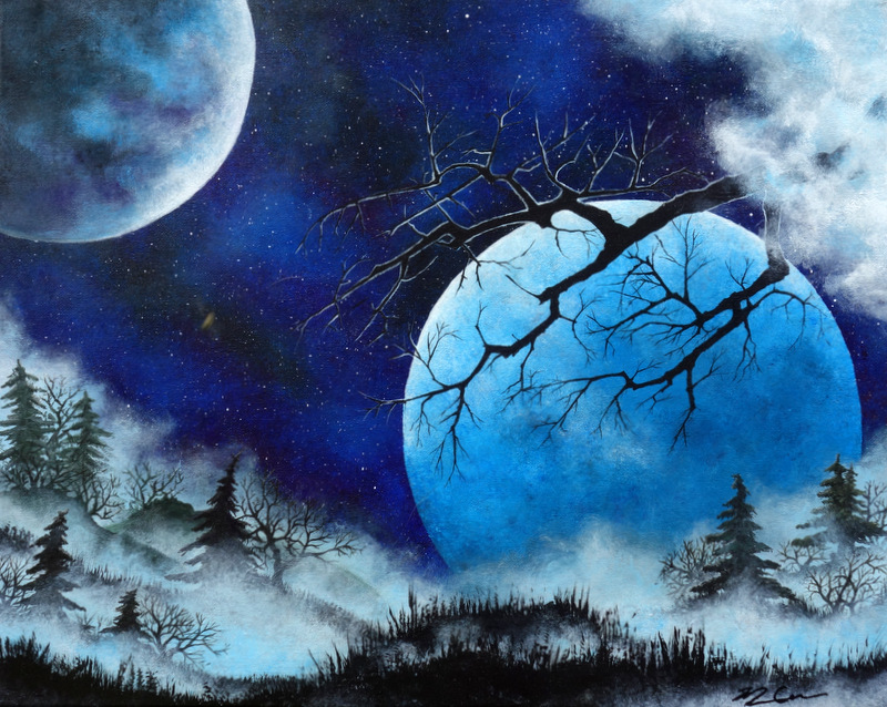 Two Moons and Mist by Monique Cudbertson