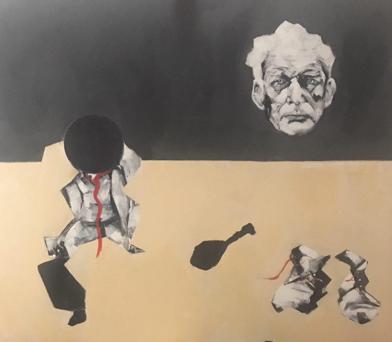 20496922-1-Anahita Mohebali-Waiting for Godot-Acrylic Painting on Canvas-47x39in-2017-USD500.jpg