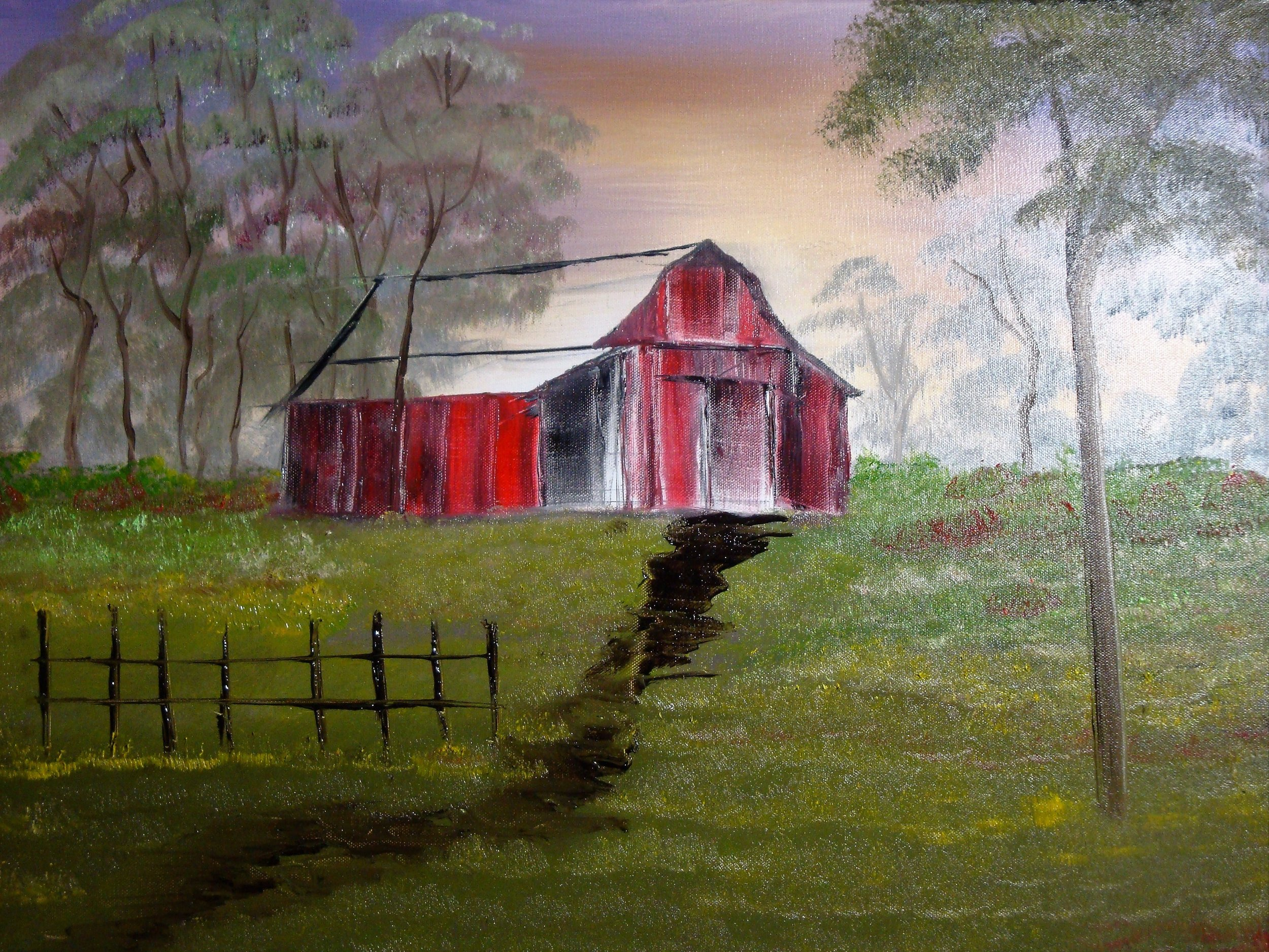 """""""Old Rustic Red Barn"""" by Lana Futlz"""