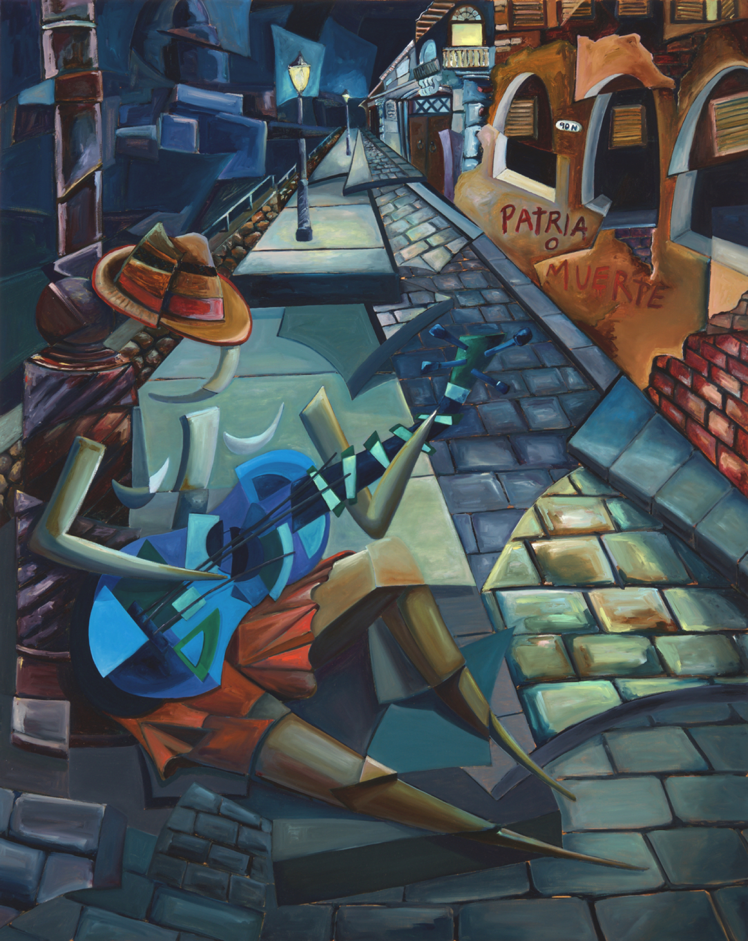 Derwin Leiva_The Blue Guitar_Oil on Canvas_60x 48_20,000 .jpg