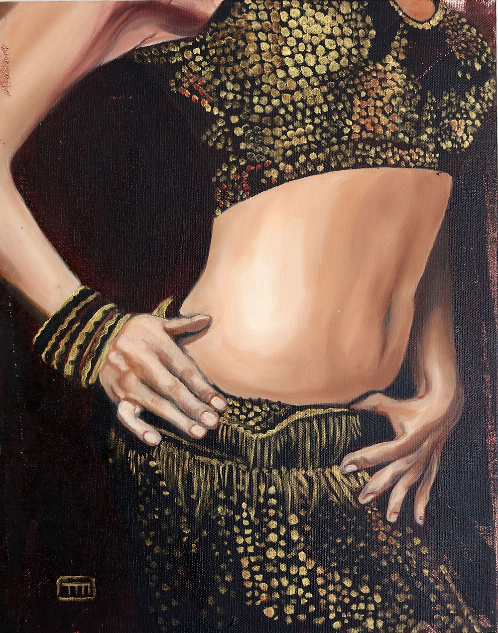 20496926-Machmali, Belly Dancer, oil on canvas, 11x14, 2006, 400.jpg