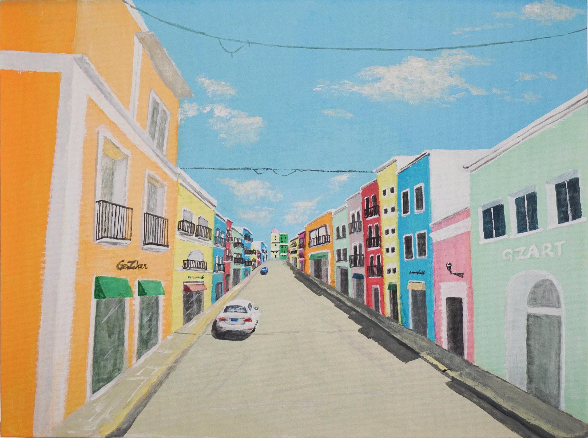 20496926-Ge Zhan_Sunny Day in San Juan_Acrylic on canvas_12x16_250.jpg