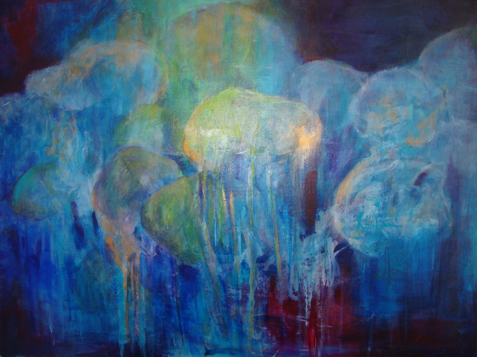"""Ocean 1   30"""" x 40"""" - acrylic on canvas"""