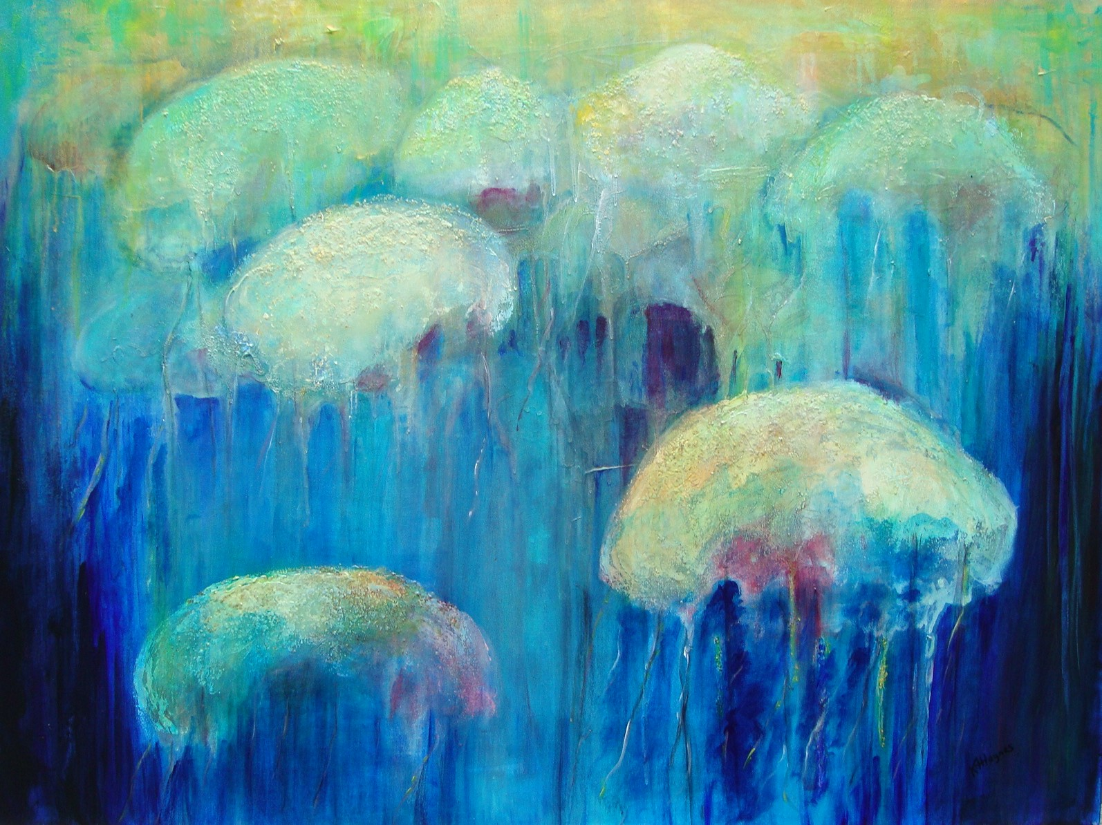 """SOLD - Ocean 2   36"""" x 48"""" - acrylic on canvas"""