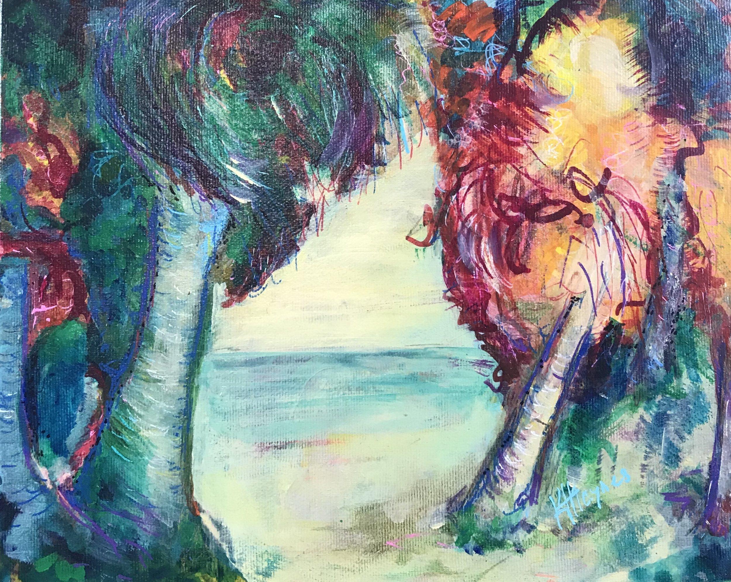 """Caribbean Memory #2   8"""" x 10"""" - acrylic on canvas"""