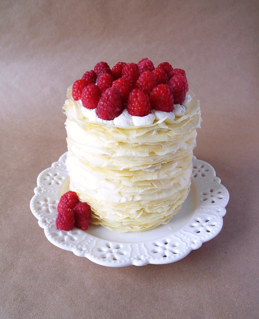Fifty Layers Vanilla Bean Crepe Cake