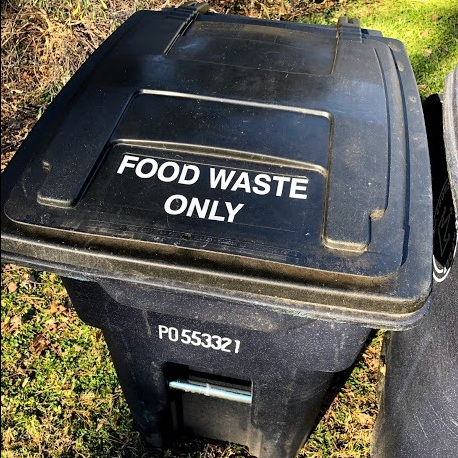 "Your bin is at the end of the trash can line, with ""FOOD WASTE ONLY"" stamped on top - Simply empty the contents of your bucket into this bin and come back whenever needed! We recommend making it a weekly habit, so be sure you are receiving our text message reminders!"