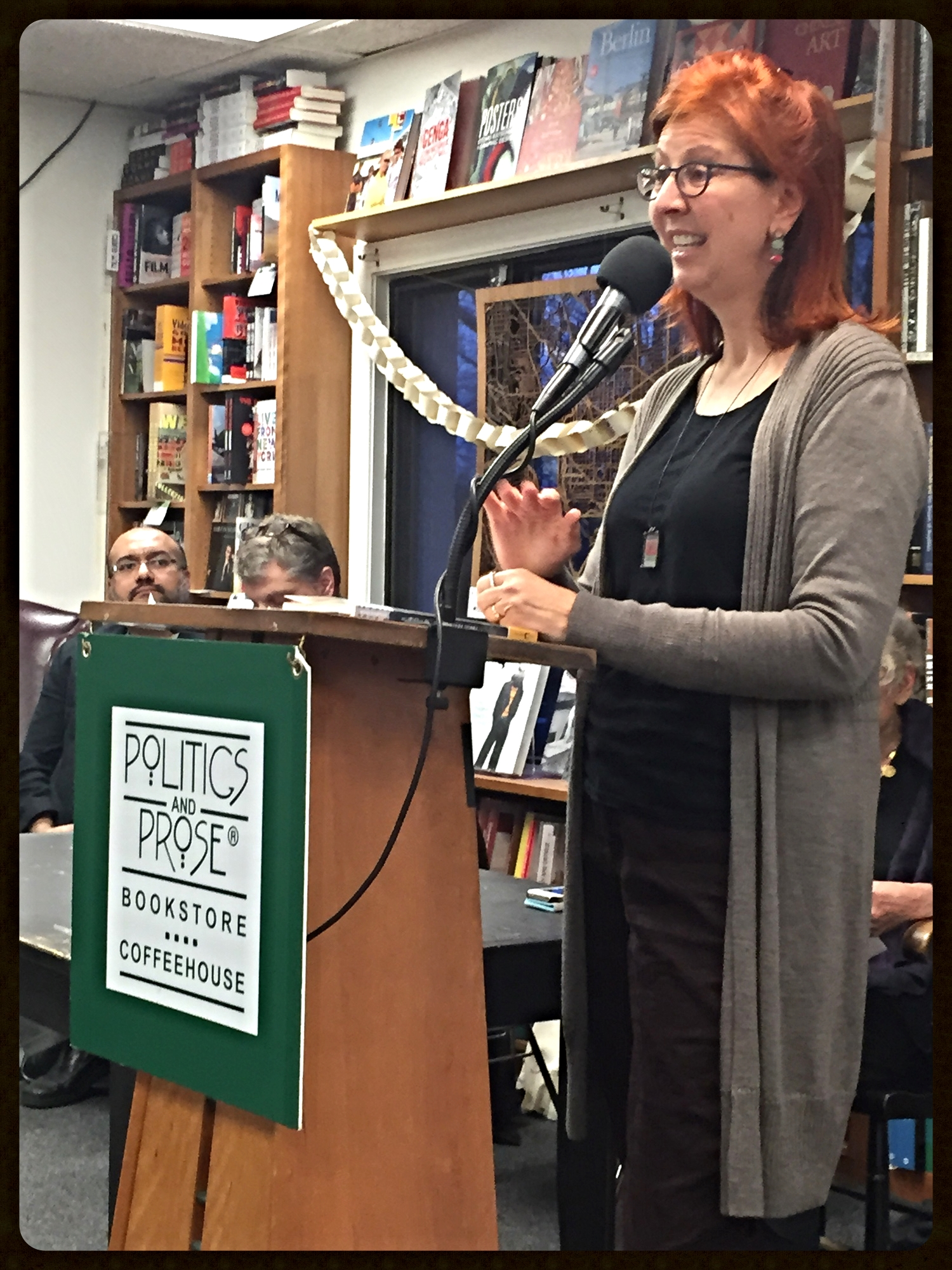 Mary Kay Zuravleff, speaking Jan. 25 at the Wendi Kaufman Memorial Celebration