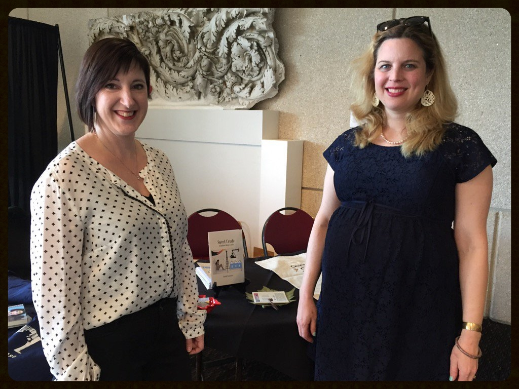 Gazing Grain authors Heidi Czerwiec and Nora Brooks (left to right).